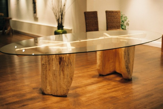 Green Wood Chairs And Tables By Friedel Beucking